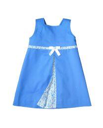Robe trapèze Pli creux bleue