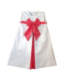 Robe trapèze Pli creux blanc